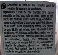 Rosette cornichons pain de mie complet - Ingrédients - fr