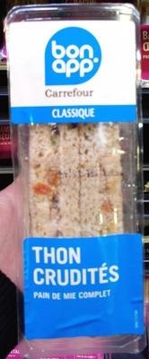 Sandwich Thon Crudités Pain de mie complet - Produit - fr