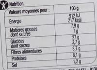 Sandwich Thon Crudités Pain de mie complet - Informations nutritionnelles - fr