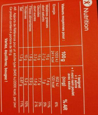 Assortiment exotique - Informations nutritionnelles - fr