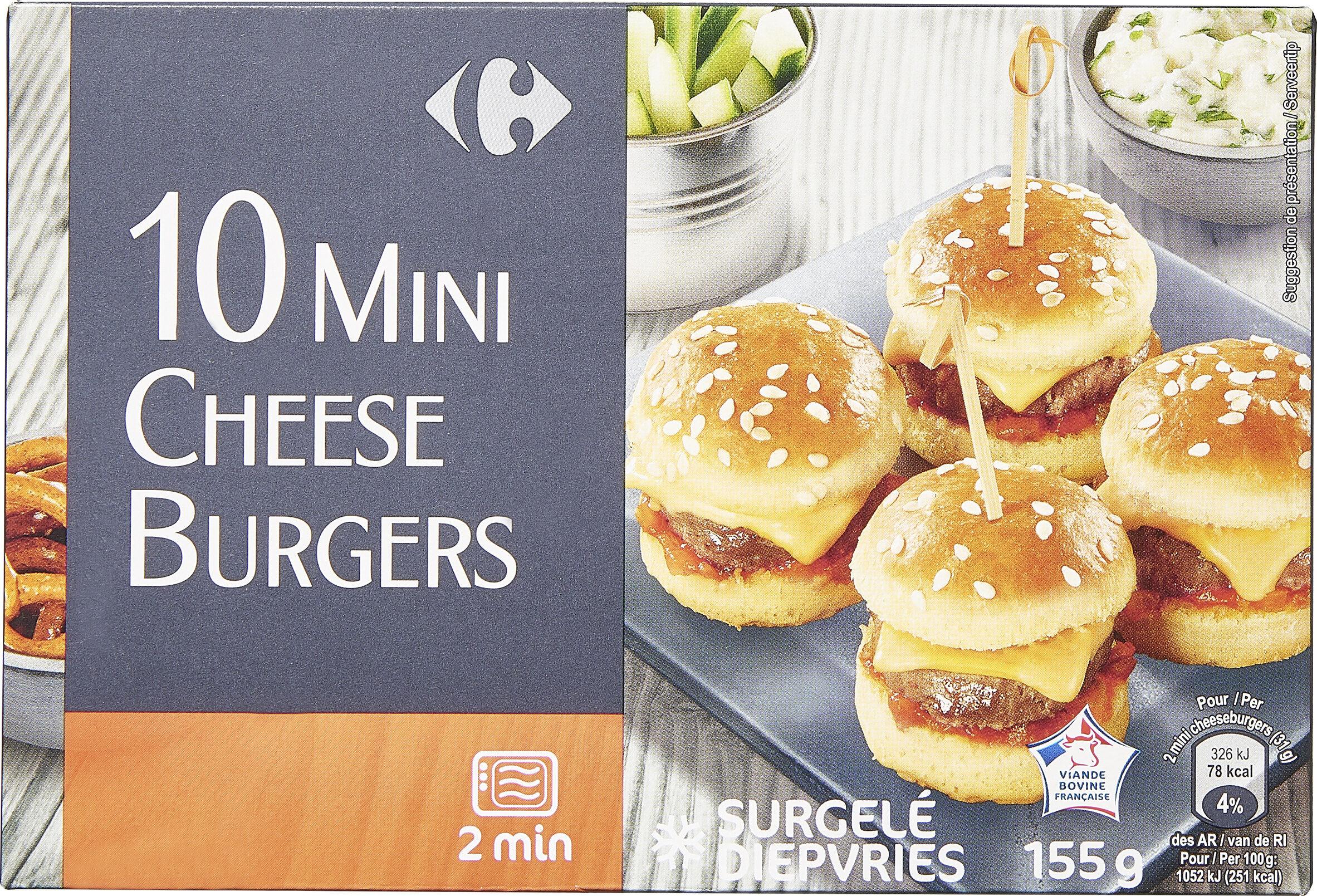 10 mini cheeseburgers - Prodotto - fr