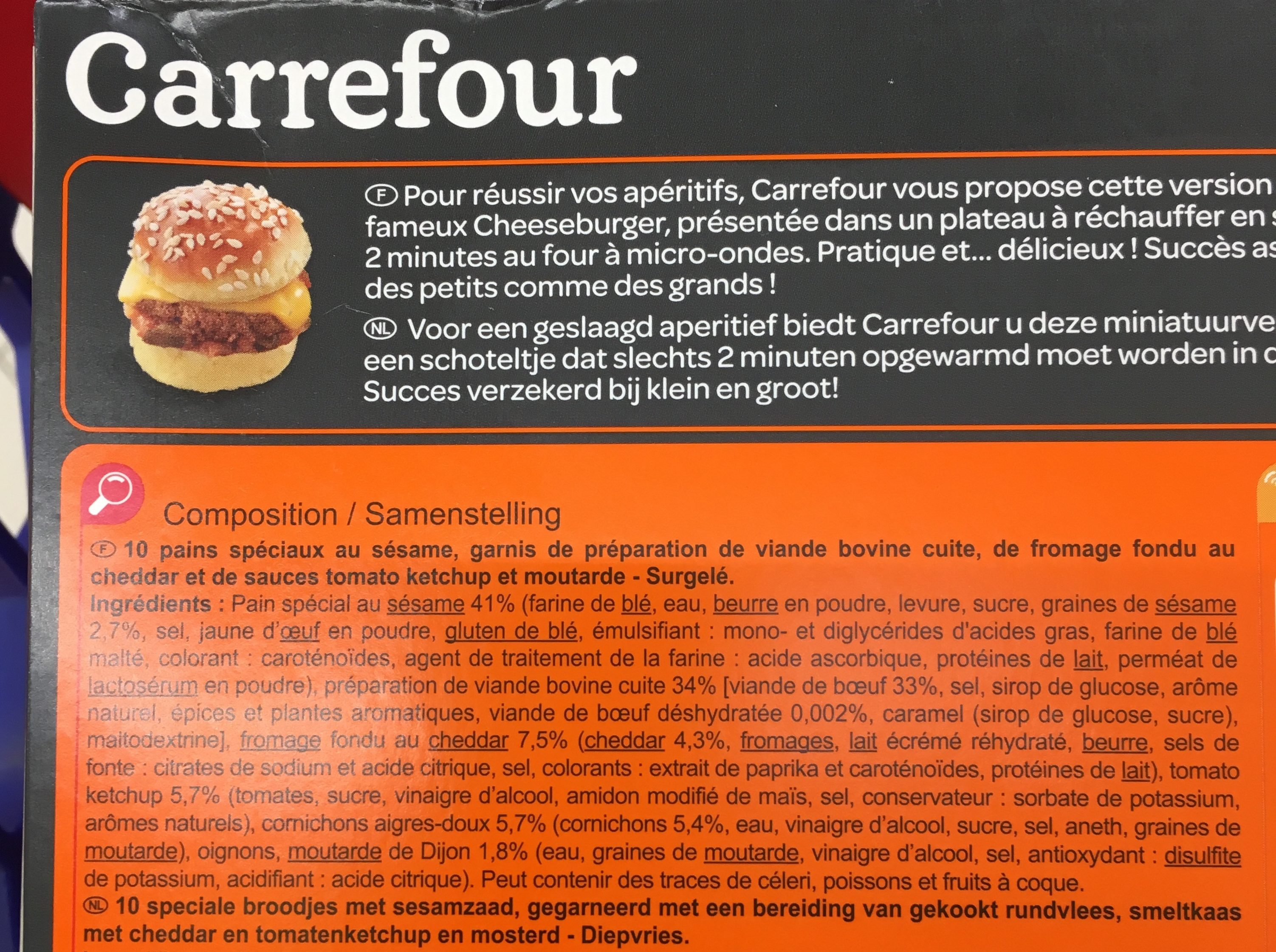 10 mini cheeseburgers - Ingredienti - fr