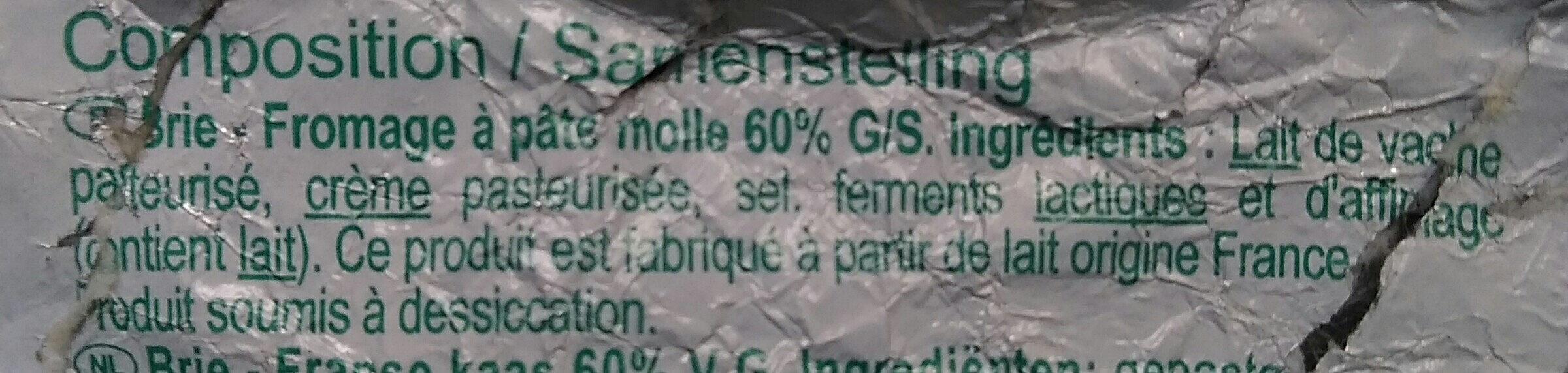 Brie (31% MG) - Ingredienti - fr