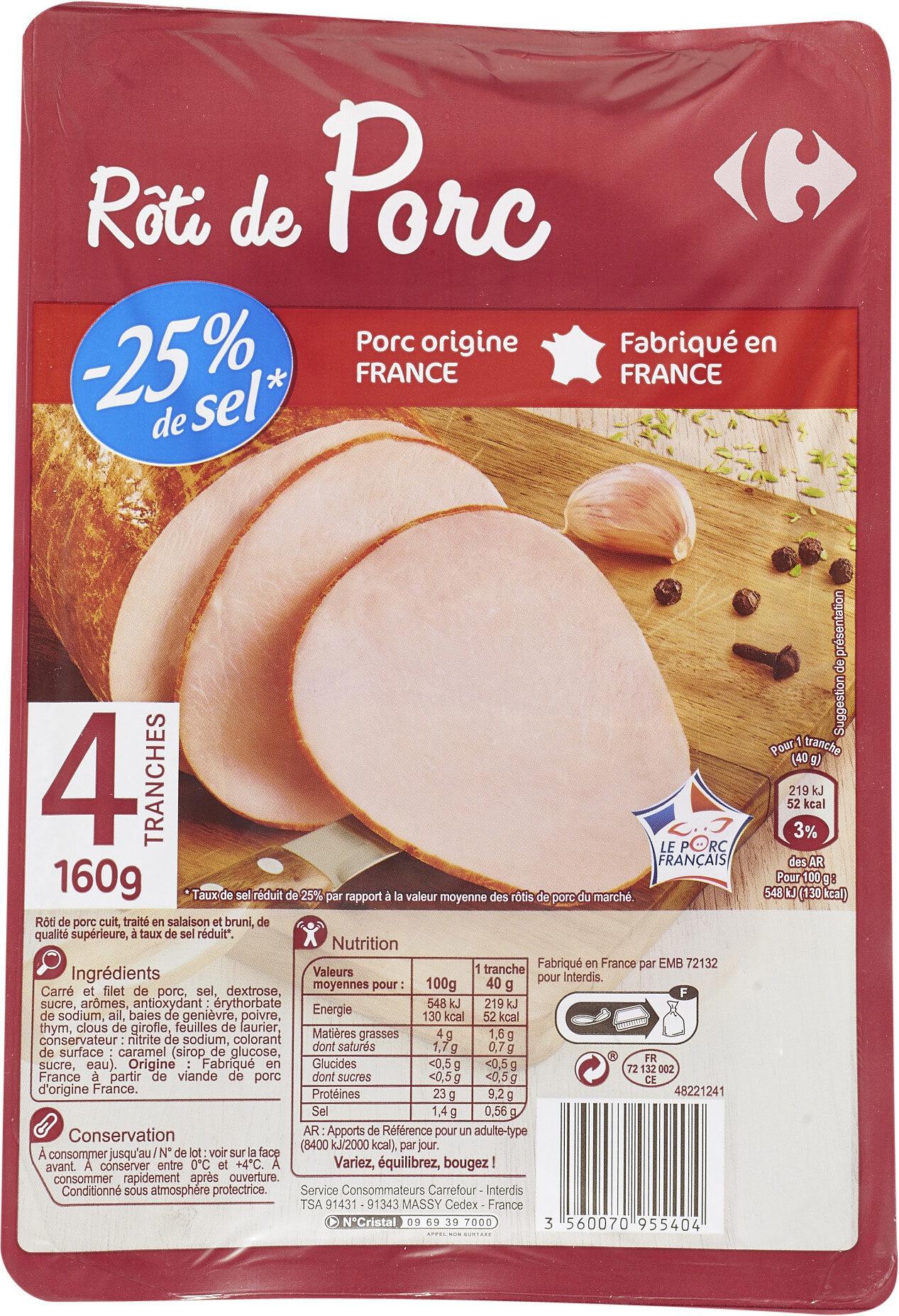 Rôti de porc -25% de sel - Product - fr