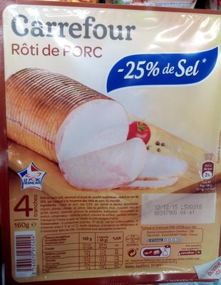 Rôti de porc -25% de sel - Produit - fr