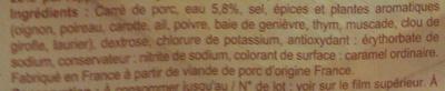 Rôti de porc -25% de sel - Ingrédients - fr