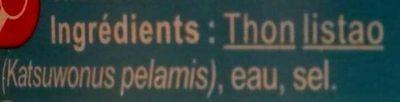 Thon listaoentierpêché à la canne - Ingredients
