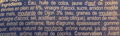 Mayonnaise allégée - Ingrédients - fr