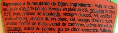 Mayonnaise à la moutarde de Dijon - Ingrédients