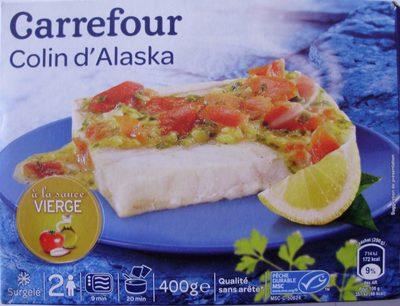 Colin d 39 alaska la sauce vierge surgel carrefour - Cuisiner du colin surgele ...