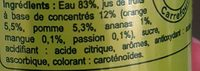 Boisson aux Fruits saveur Tropical - Ingredients - fr