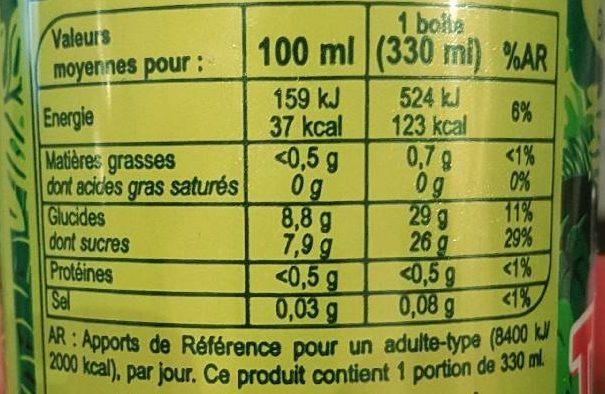 Boisson aux Fruits saveur Tropical - Nutrition facts - fr