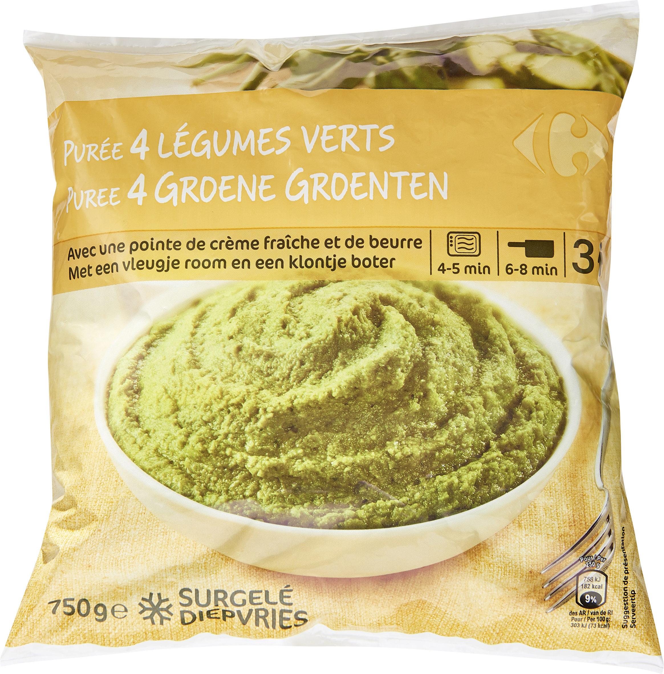 Purée 4 légumes verts - Product - fr