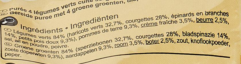Purée 4 légumes verts - Ingredients - fr