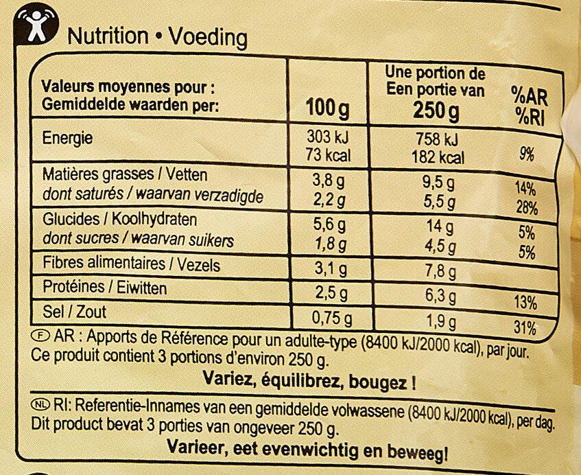 Purée 4 légumes verts - Nutrition facts - fr