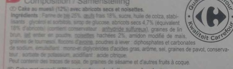 Cake Muesli - Ingredients