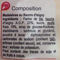 Ma Madeleine au beurre d'Isigny - Ingredients - fr