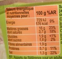 Salade trio - Informations nutritionnelles - fr