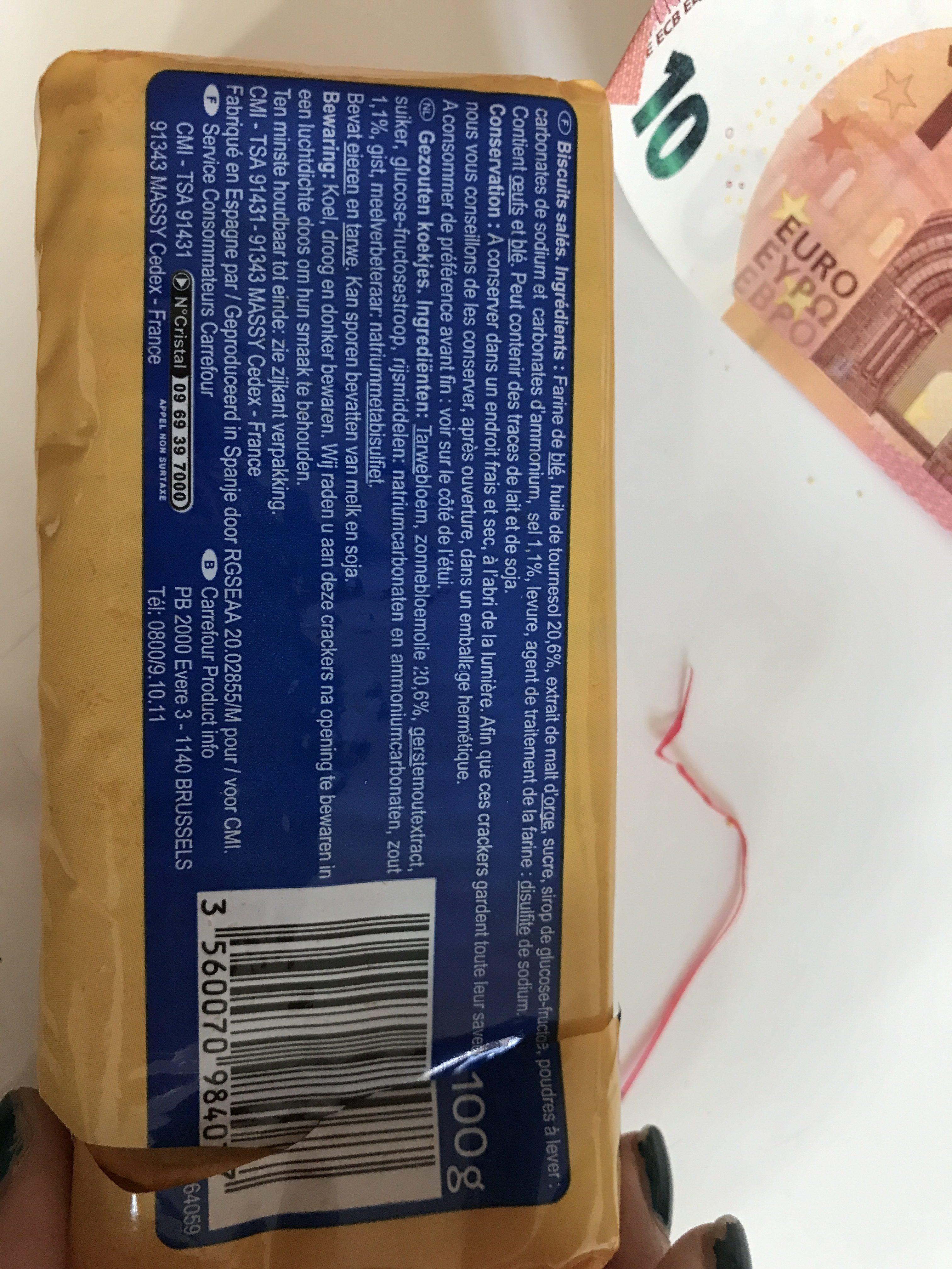 Crackers Classic - Ingredientes