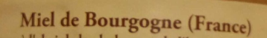 Miel de Bourgogne - Ingredients - fr