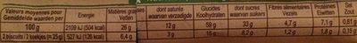 Biscuits complets avoine blé - Voedingswaarden - fr