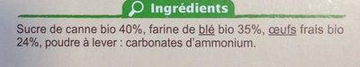 Boudoirs aux Œufs Frais - Ingredients - fr