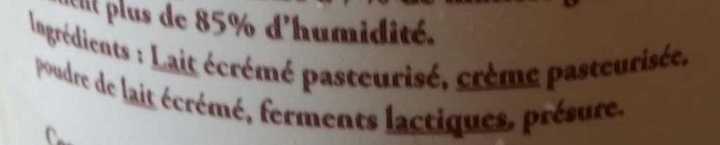 Faisselle de Bresse moulée à la main - Ingrédients - fr