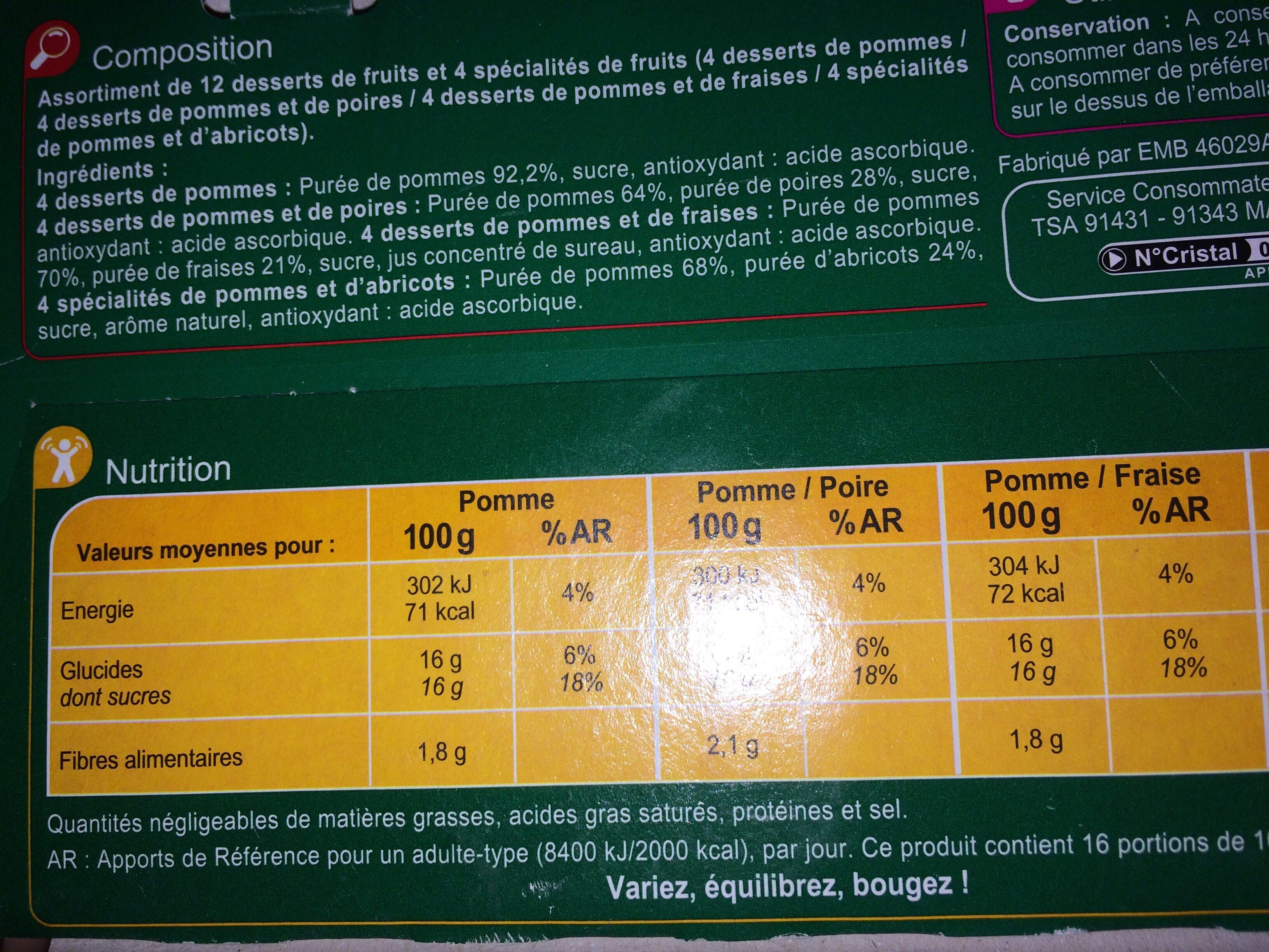 Panaché - Ingrédients - fr