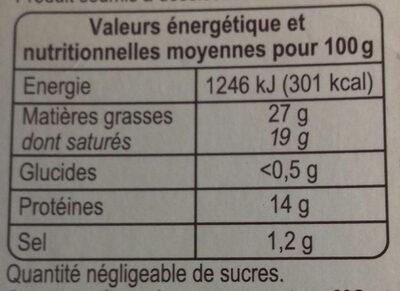 Saint-Félicien Moulé à la louche - Voedingswaarden - fr