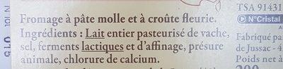 Brique du Forez - Ingredients