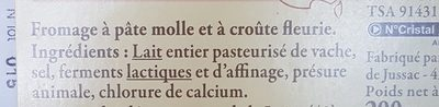 Brique du Forez - Ingrediënten