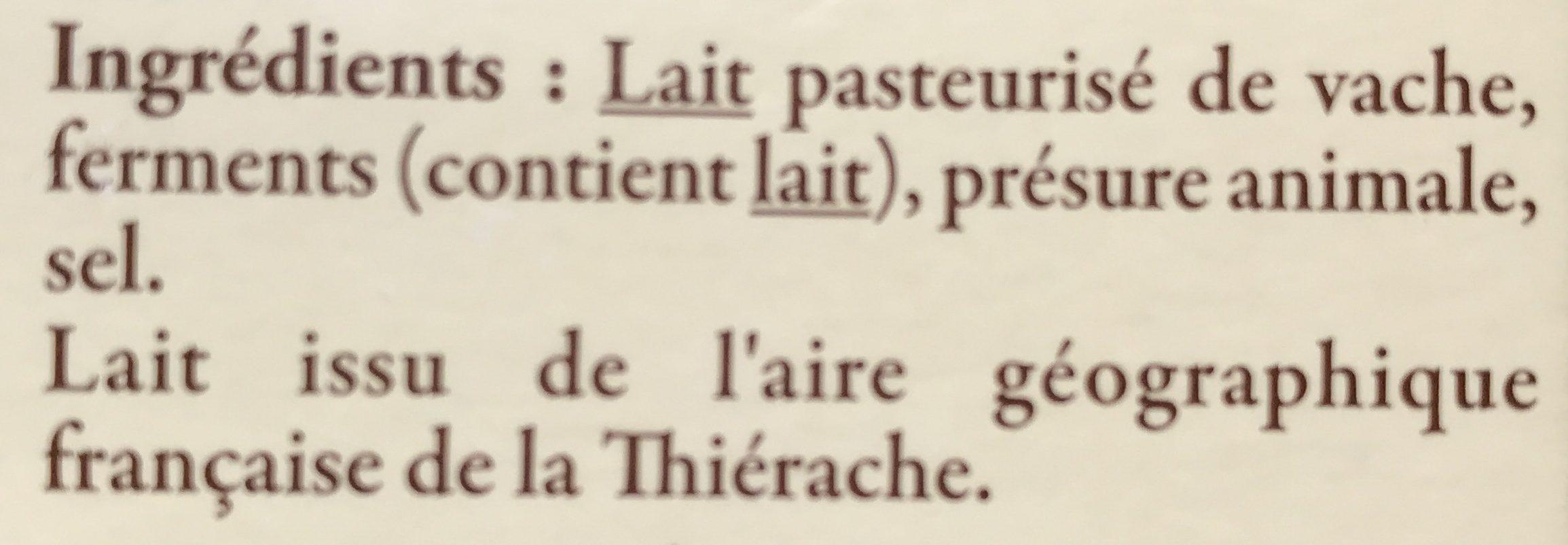 Rollot de Picardie - Ingredients - fr