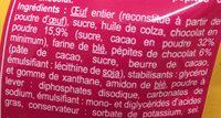 Moelleux chocolat - Ingrediënten