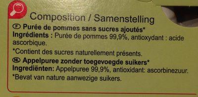 Sans sucres ajoutés* *Contient des sucres naturellement présents - Ingredients