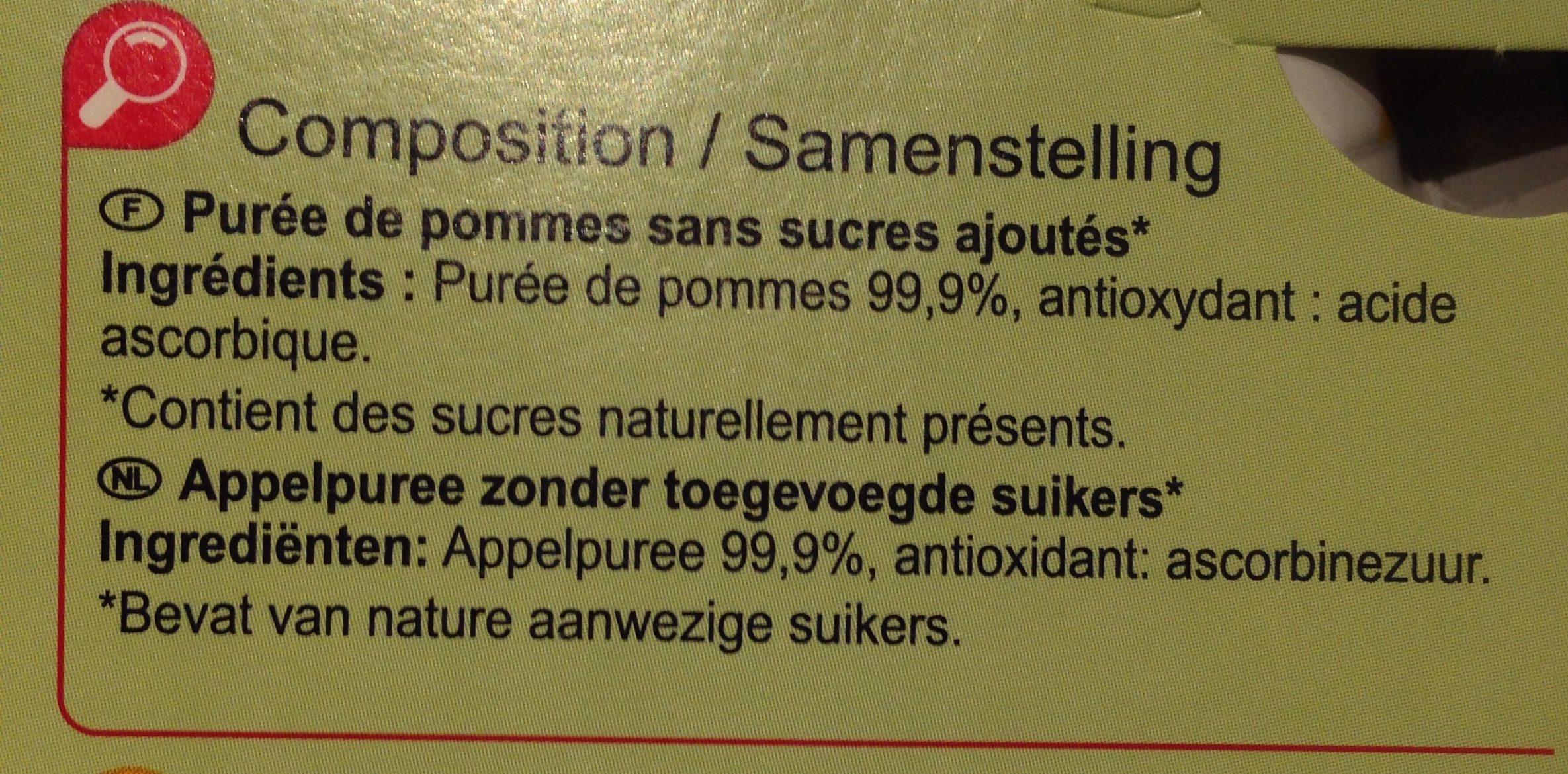 Sans sucres ajoutés* *Contient des sucres naturellement présents - Ingredients - fr
