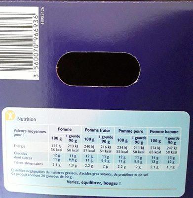 Sans sucres ajoutés**Contient des sucres naturellement présents - Nutrition facts - fr
