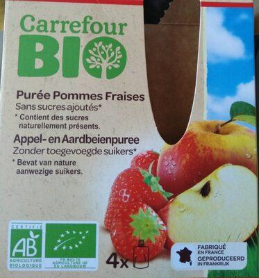 Purée pommes fraises - Produit - fr