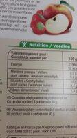 Purée pommes fraises - Informazioni nutrizionali - fr