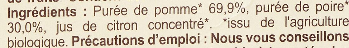 Purée Pommes Poires - Ingrediënten - fr