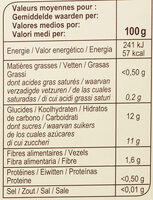 Purée Pommes Poires - Voedingswaarden - fr