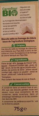 Biscuits Salés au Fromage de Chèvre - Ingrédients