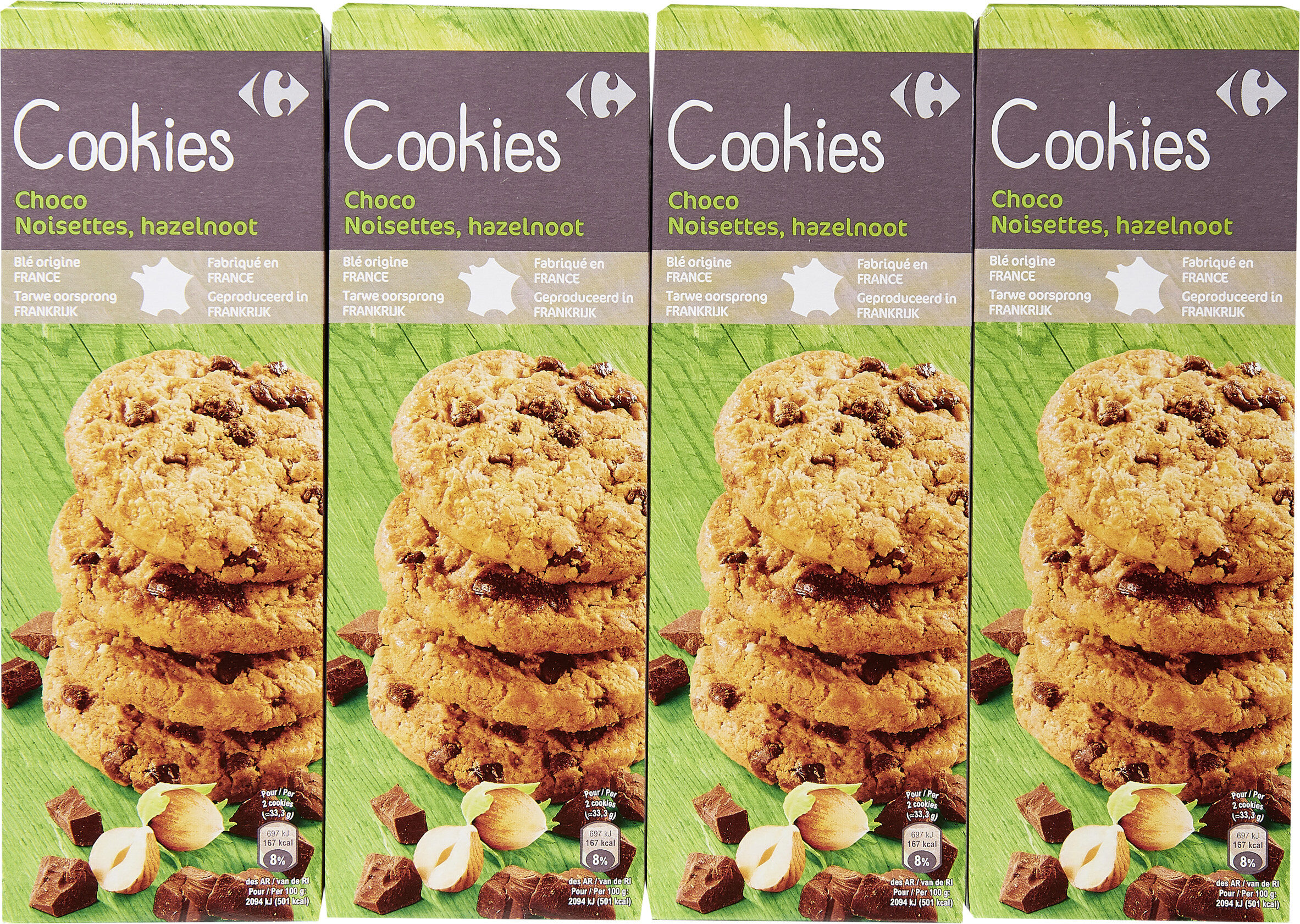 Cookies choco noisettes - Product - fr