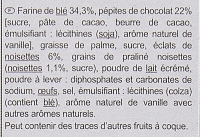 Cookies choco noisettes - Ingredients - fr