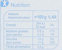 Purée de Pomme - Informations nutritionnelles - fr