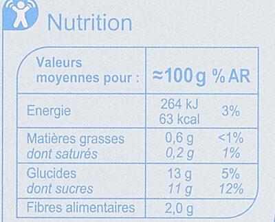 Purée de Pomme - Nutrition facts