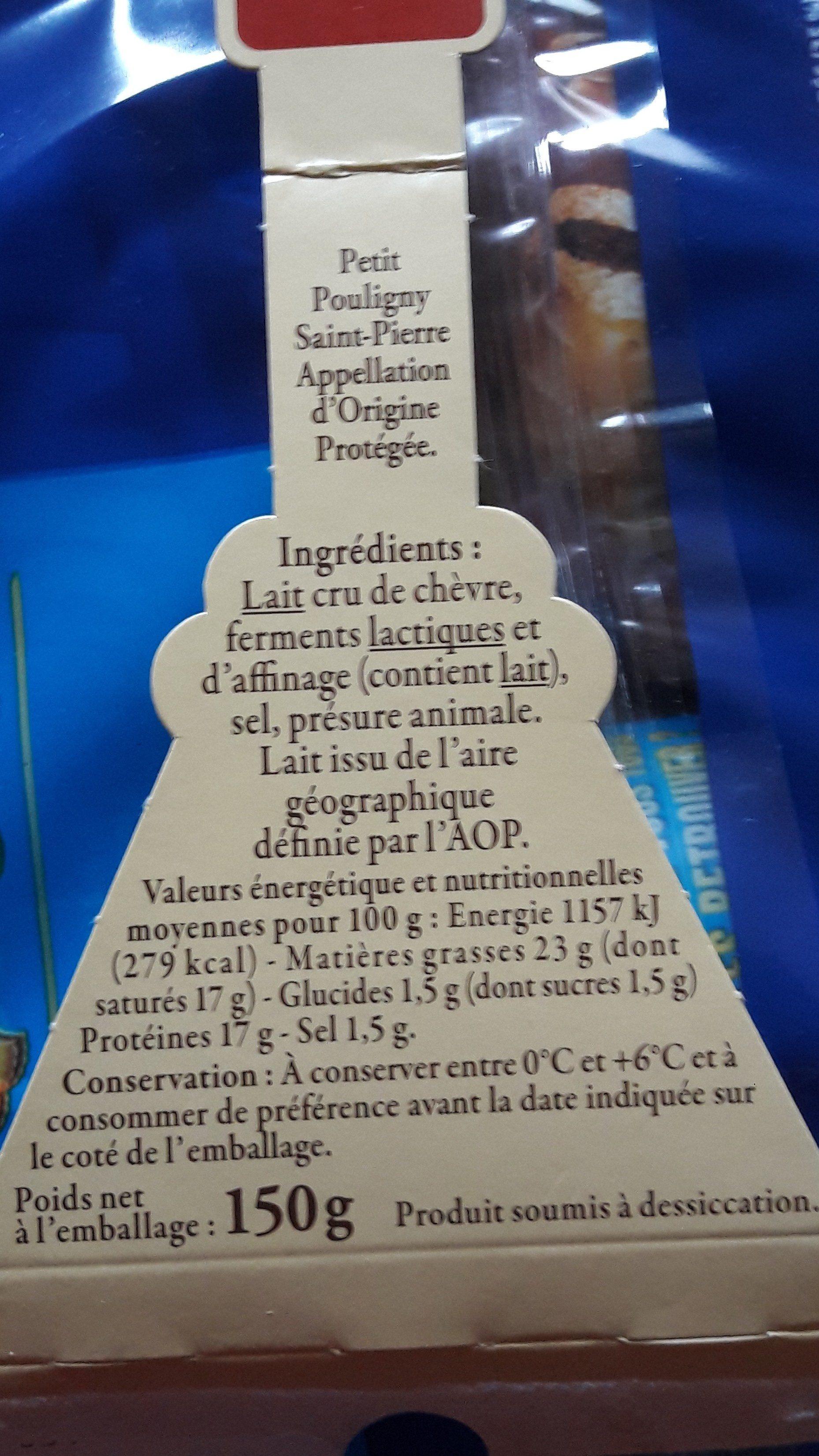 Fromage De Chèvre Au Lait Cru - Ingrediënten - fr
