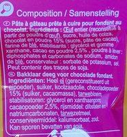 Fondant au Chocolat - Ingrediënten - fr