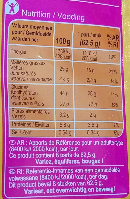 Fondant au Chocolat - Voedingswaarden - fr