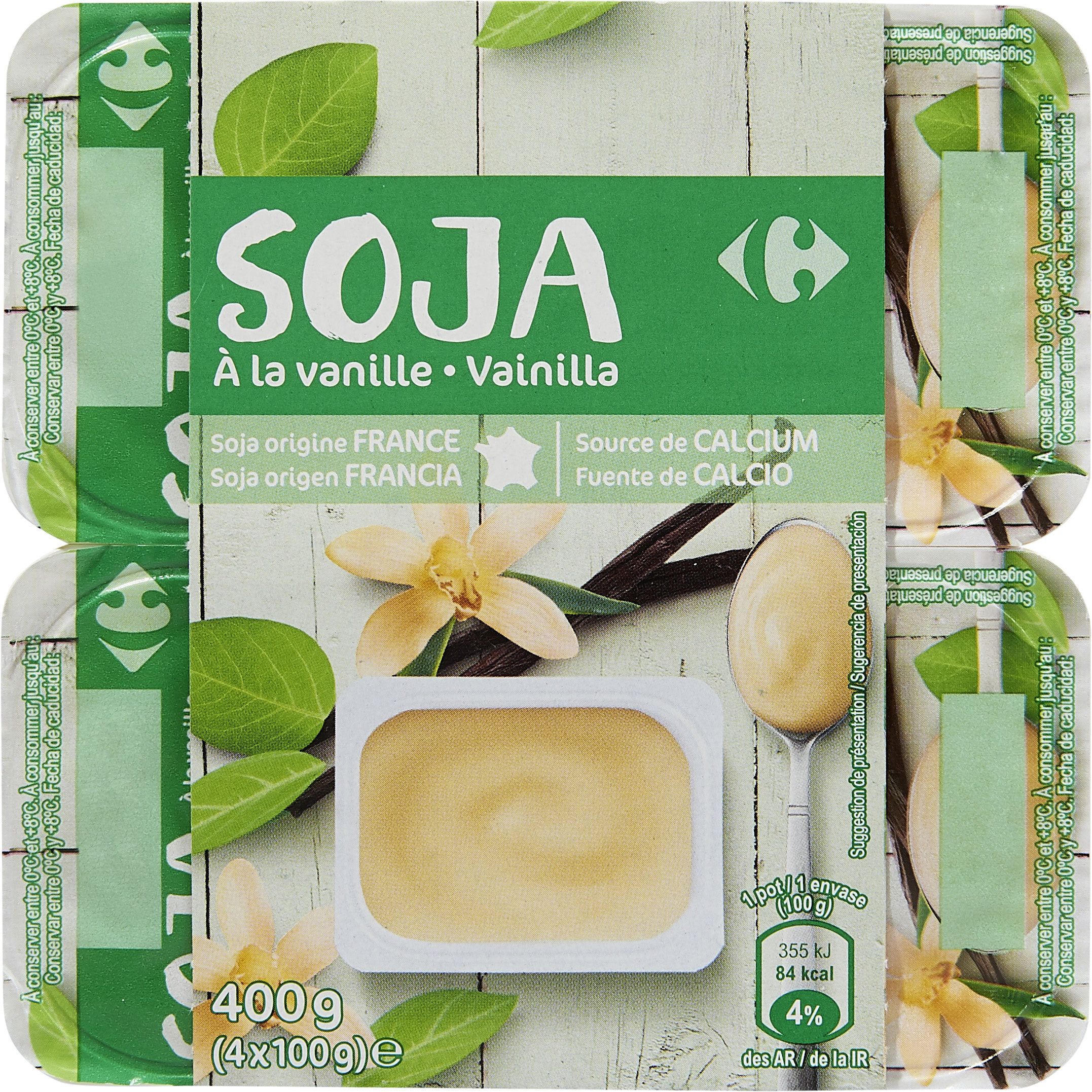 Postre de soja a la vainilla - Produit - fr