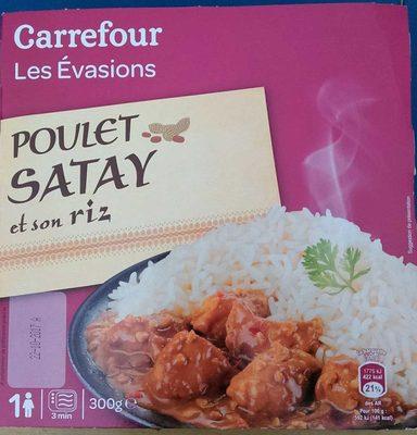 Les évasions Poulet Satay et son riz - Produit - fr